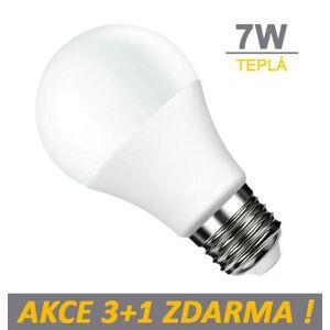 LED21 LED žárovka 7W 600lm E27 Teplá bílá, 3+1 ZDARMA
